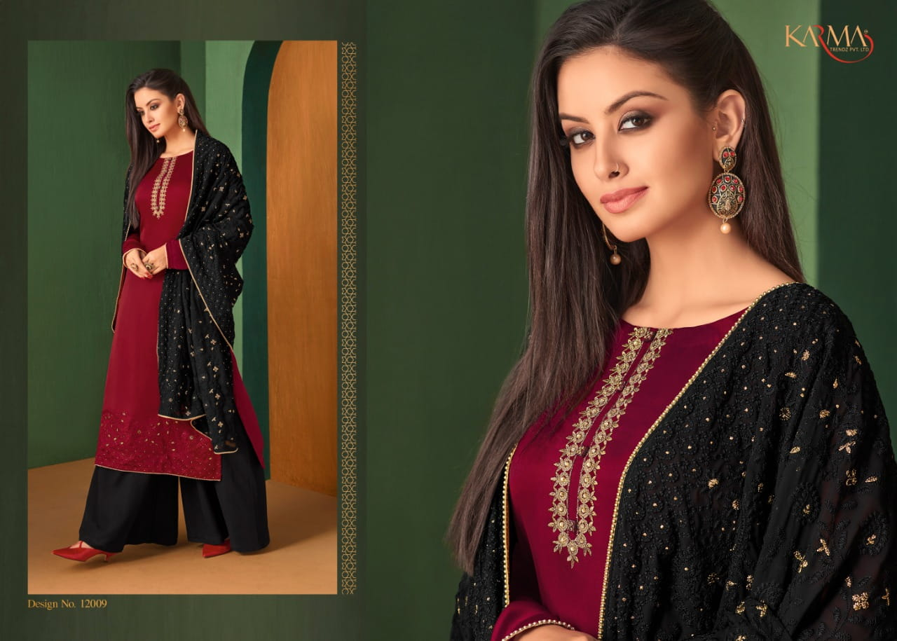 4634bed5e6 ... KARMA TRENDZ 12006-12011 SERIES HEAVY EMBROIDERED SALWAR SUITS  CATALOGUE WHOLESALE SURAT (5) ...